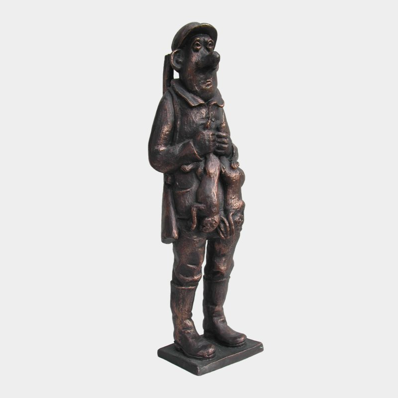 sculpture Bronze Chasseur